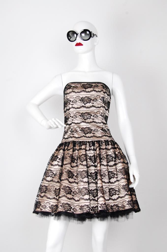 ADR001528 ブラックレースドレス
