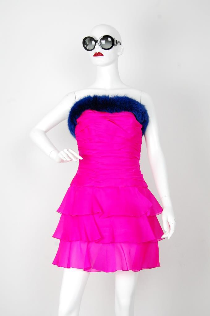 ADR001531 ピンク ブルーファードレス
