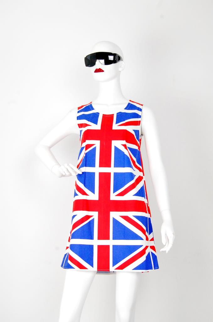 ADR001533 ユニオンジャック柄ドレス