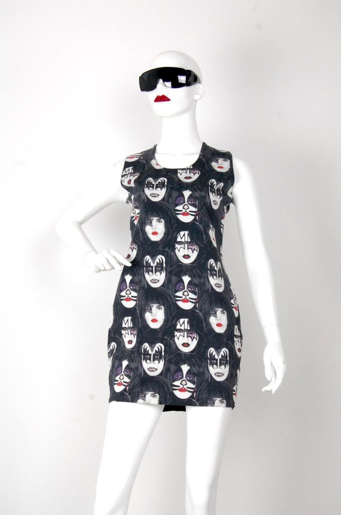 ADR001534 KISS柄ドレス