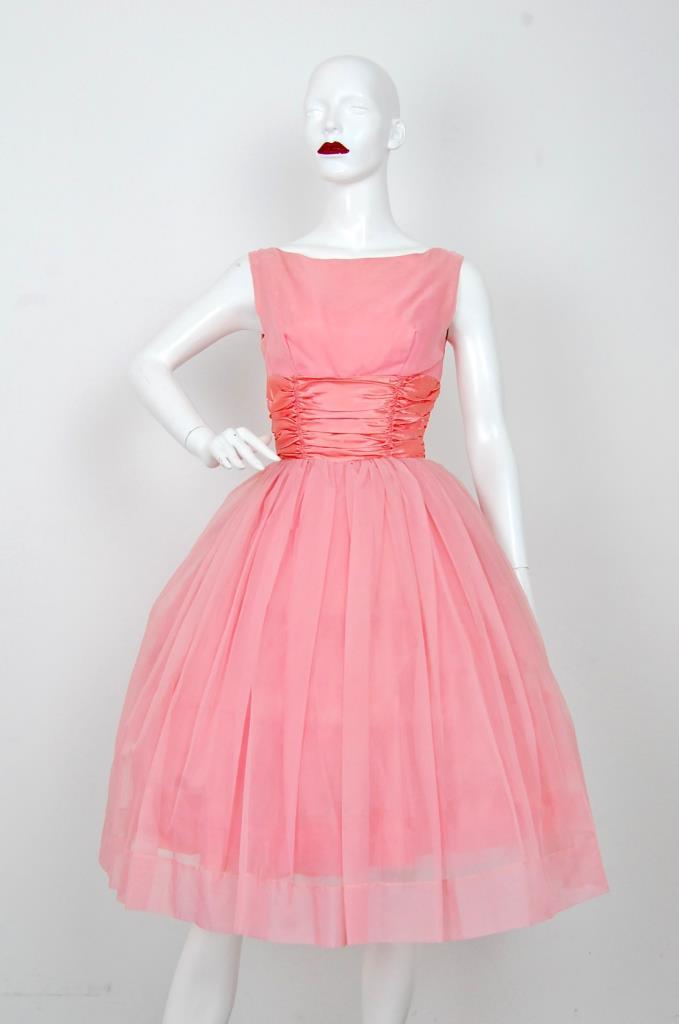 ADR001564 ピンクギャザースカートドレス