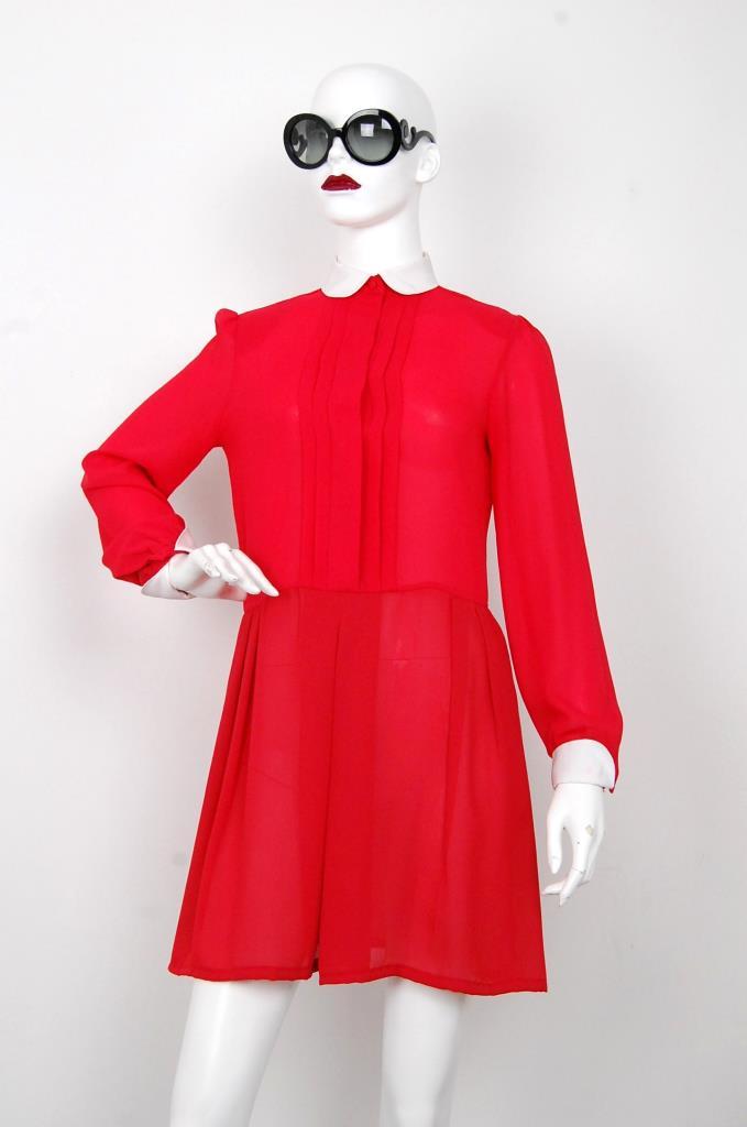 ADR001583 レッドタックドレス