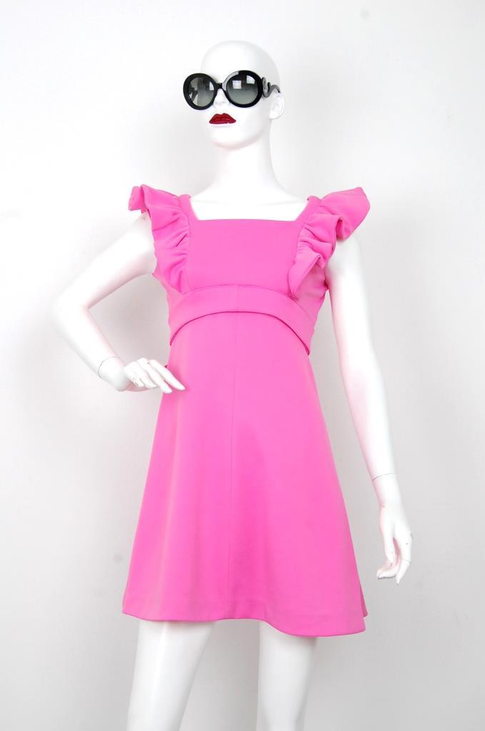 ADR001586 ピンクフレアスリーブドレス