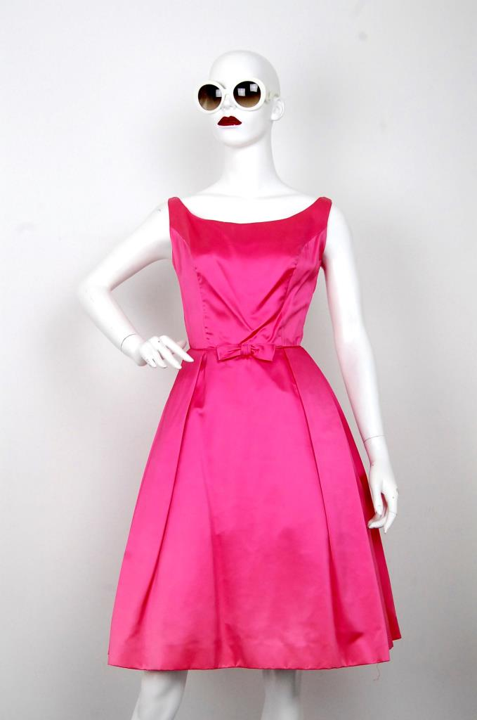 ADR001593 ピンクサテンドレス