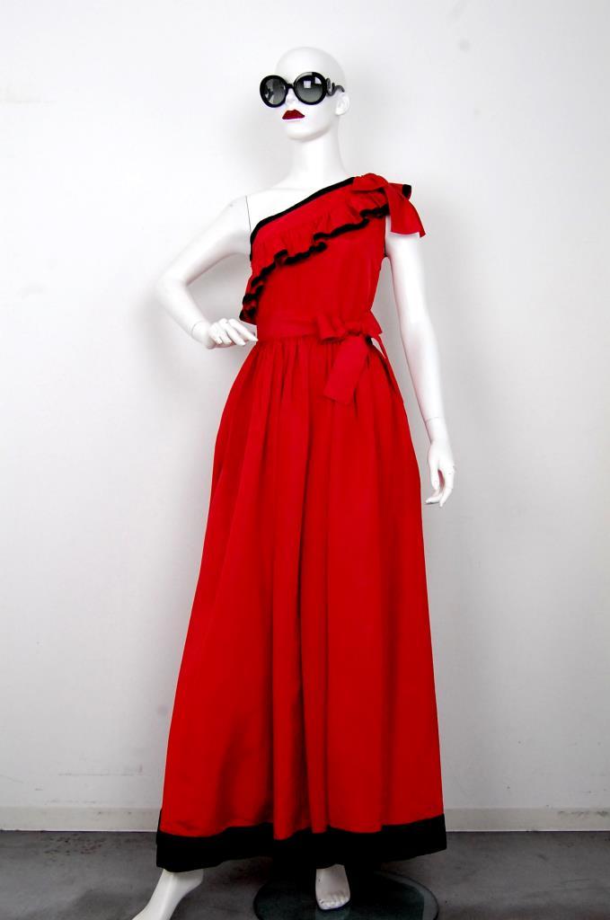 ADR001598 レッドブラックドレス
