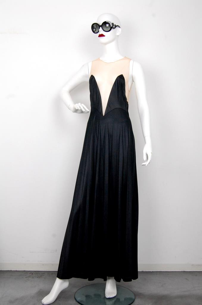 ADR001604 ブラックロングドレス