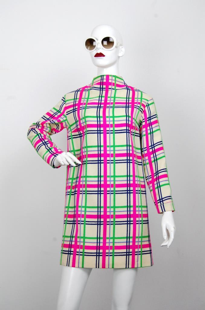 ADR001629 カラフルチェック柄ドレス