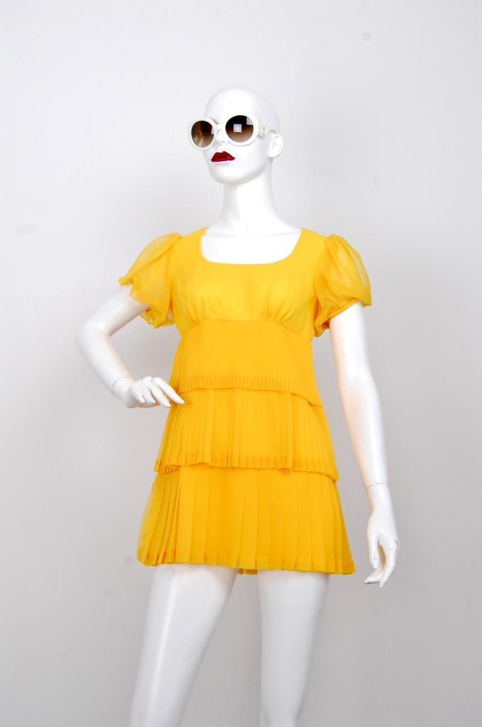 ADR001632 イエロータックドレス
