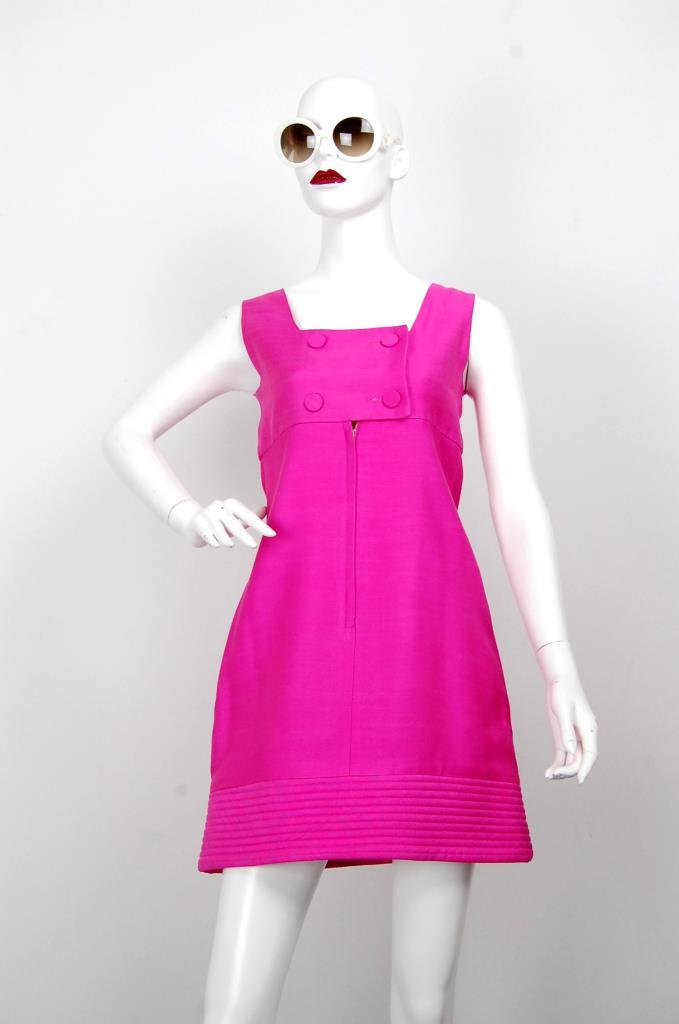 ADR001639 ピンクスクエアネックドレス