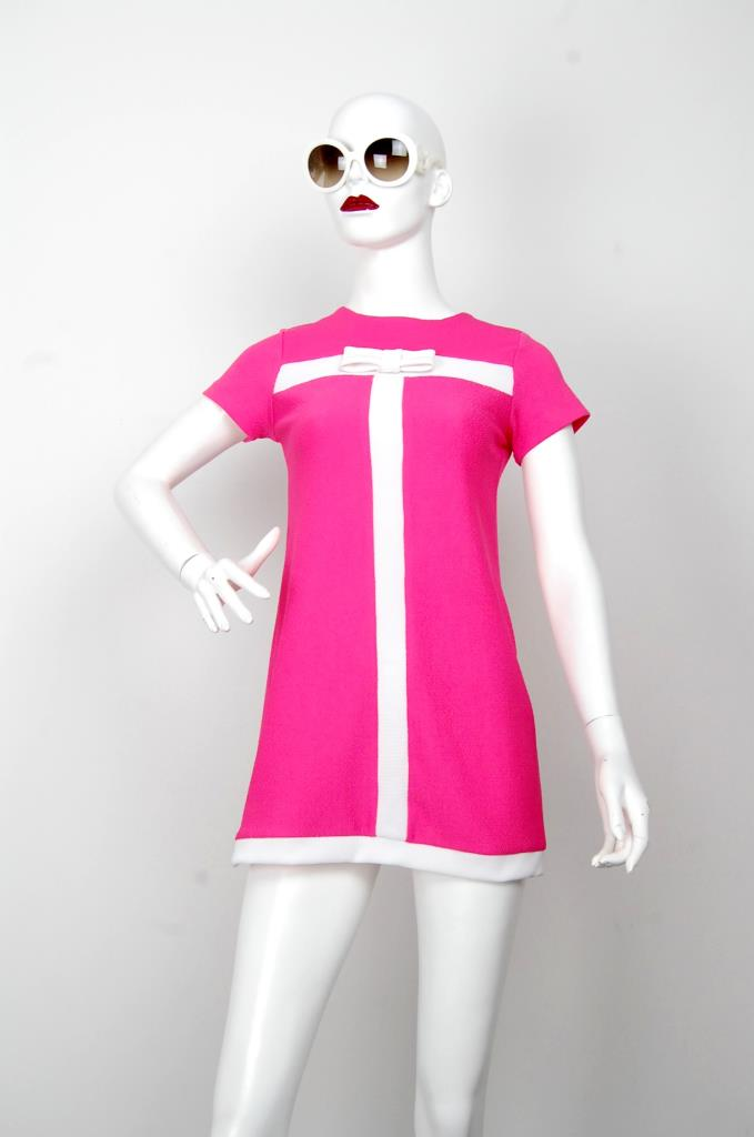 ADR001640 ピンクホワイトラインドレス