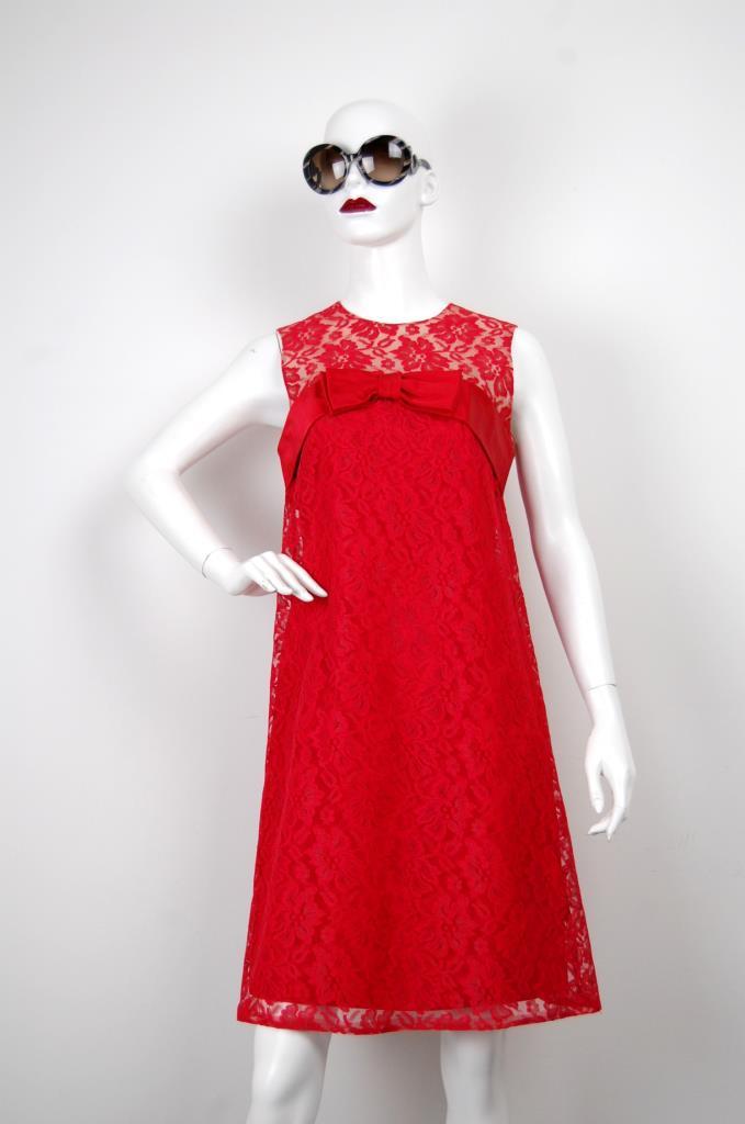 ADR001644 レッドレースドレス