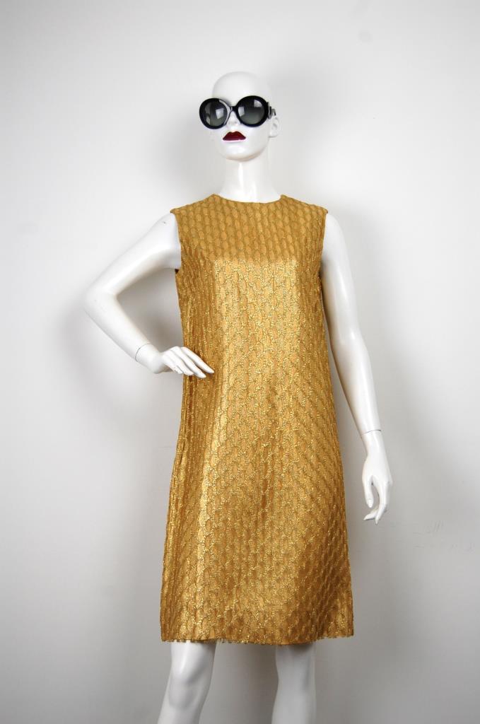 ADR001647 ゴールドレースドレス