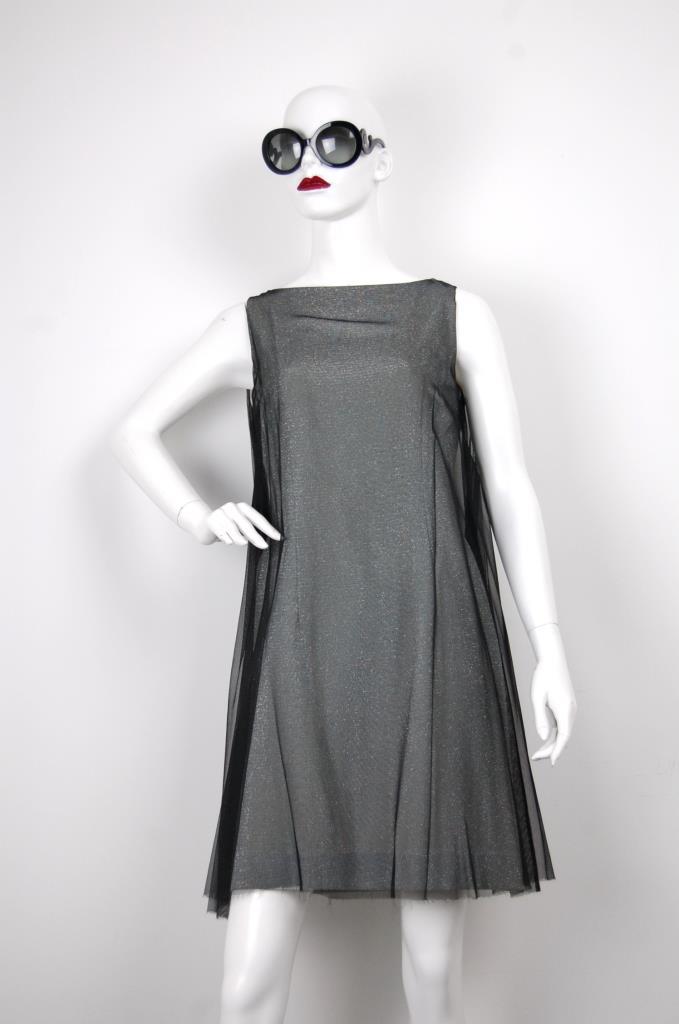 ADR001649 ブラックラメドレス
