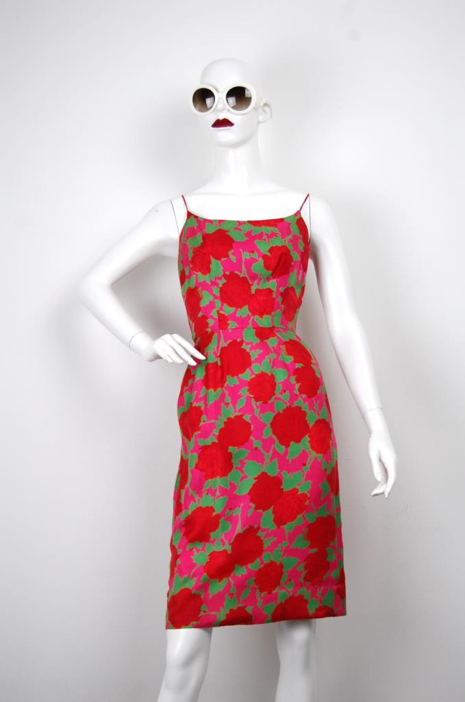 ADR001651 カラフル花柄ドレス