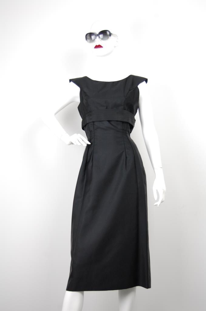 ADR001661 ブラックバックリボンドレス