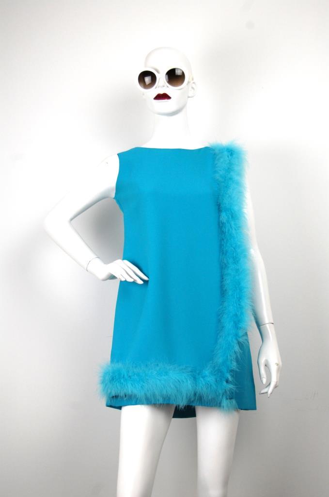 ADR001665 ライトブルーファードレス