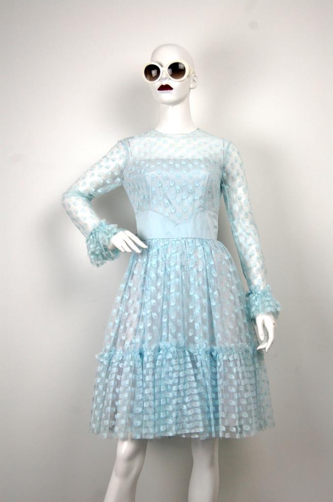 ADR001666 ライトブルーレースドレス