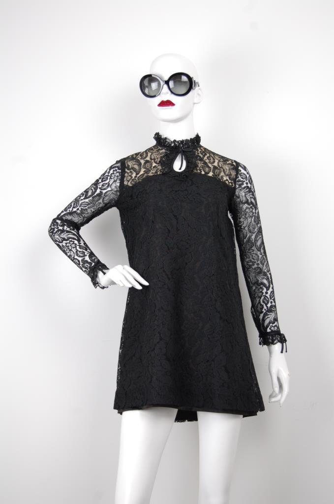 ADR001670 ブラックレースドレス