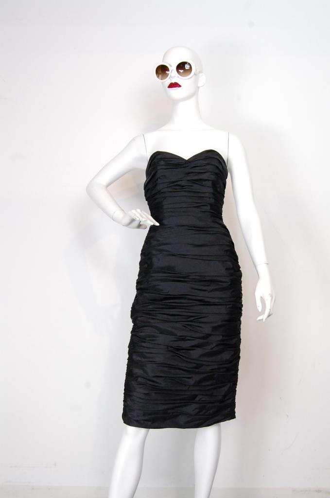 ADR001673 ブラックギャザードレス