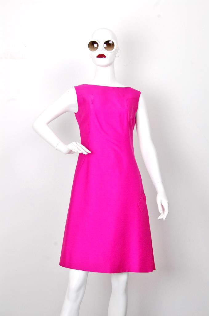 ADR001681 ピンクノースリーブドレス
