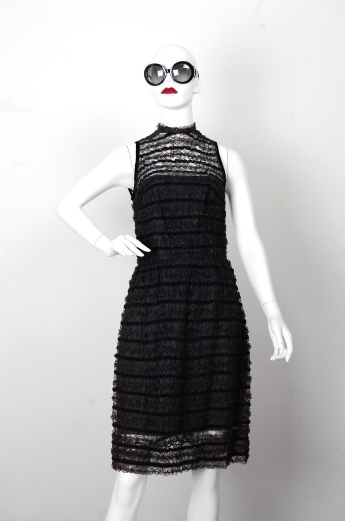 ADR001686 ブラックレースドレス