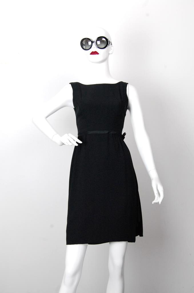 ADR001689 ブラックウエストベルトドレス