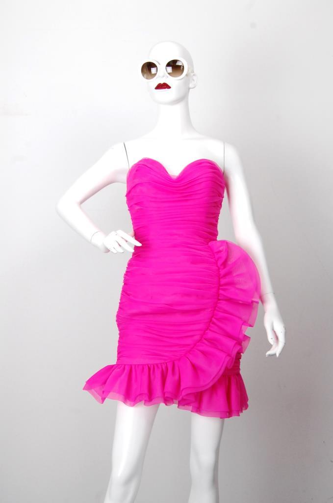 ADR001694 ピンクフリルスカートドレス