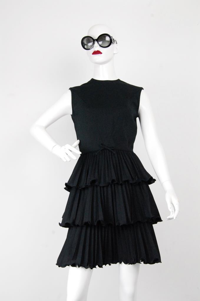ADR001707 ブラックティアードドレス