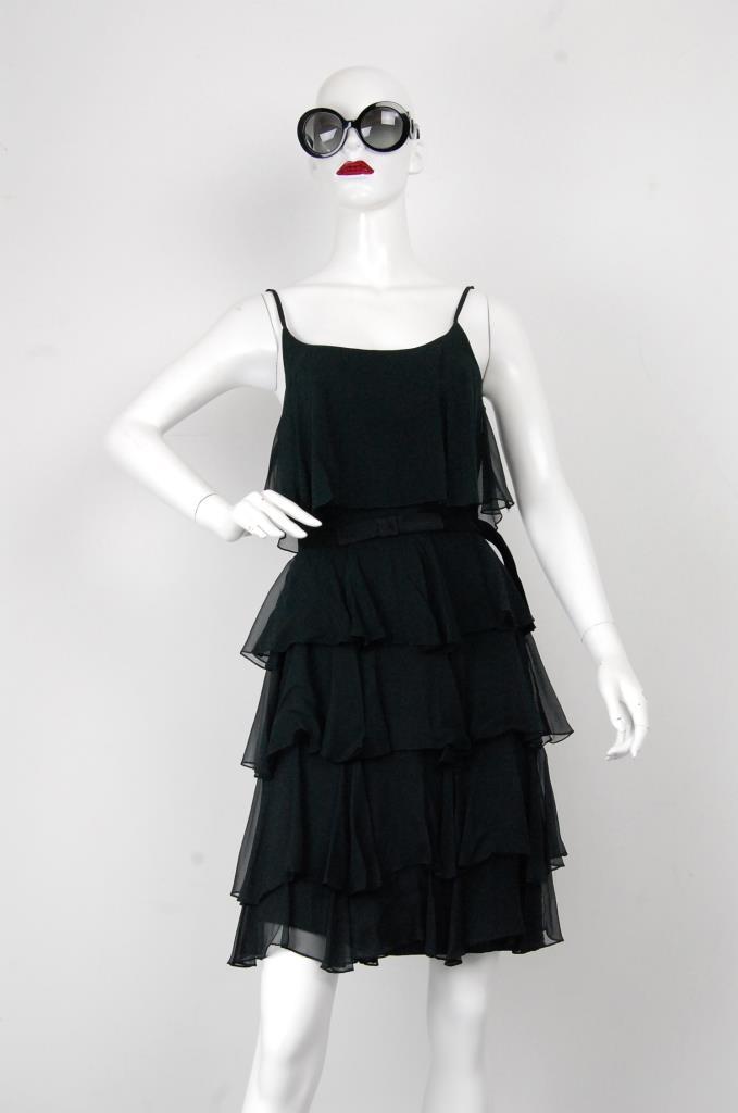 ADR001708 ブラックティアードドレス