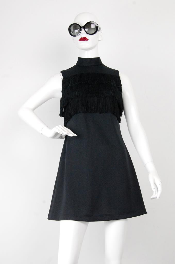 ADR001710 ブラックハイネックドレス