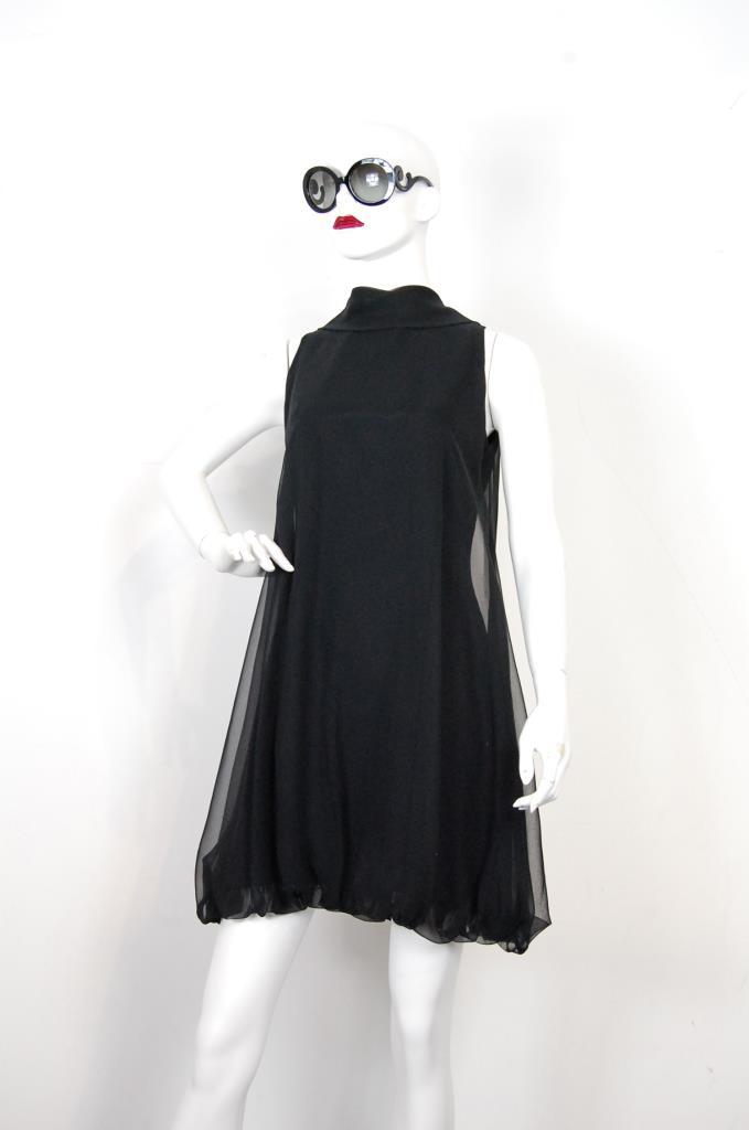 ADR001716 ブラックバルーンドレス