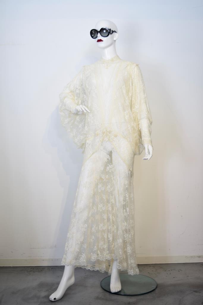 ADR001741 ベージュレースドレス