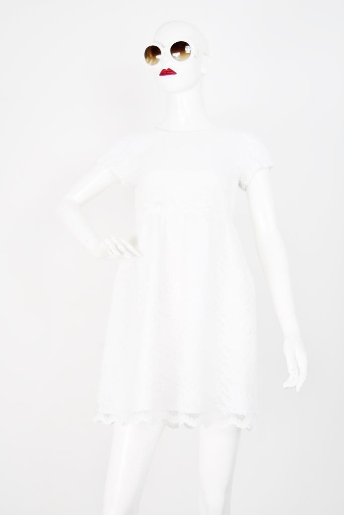 ADR001756 ホワイトスカラップドレス