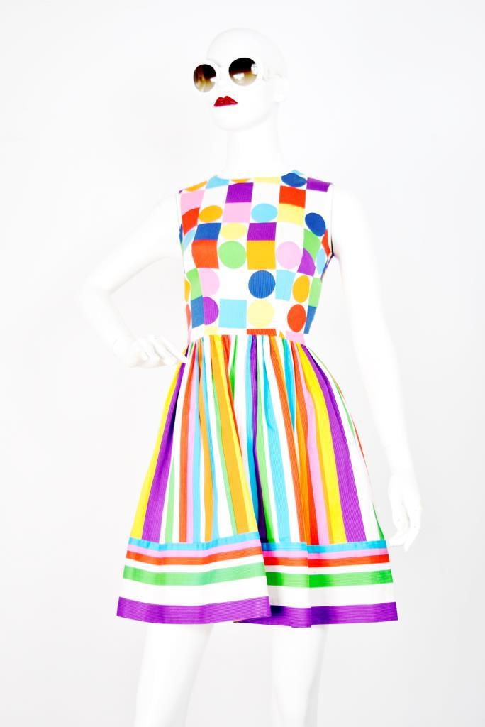 ADR001757 カラフル総柄ドレス