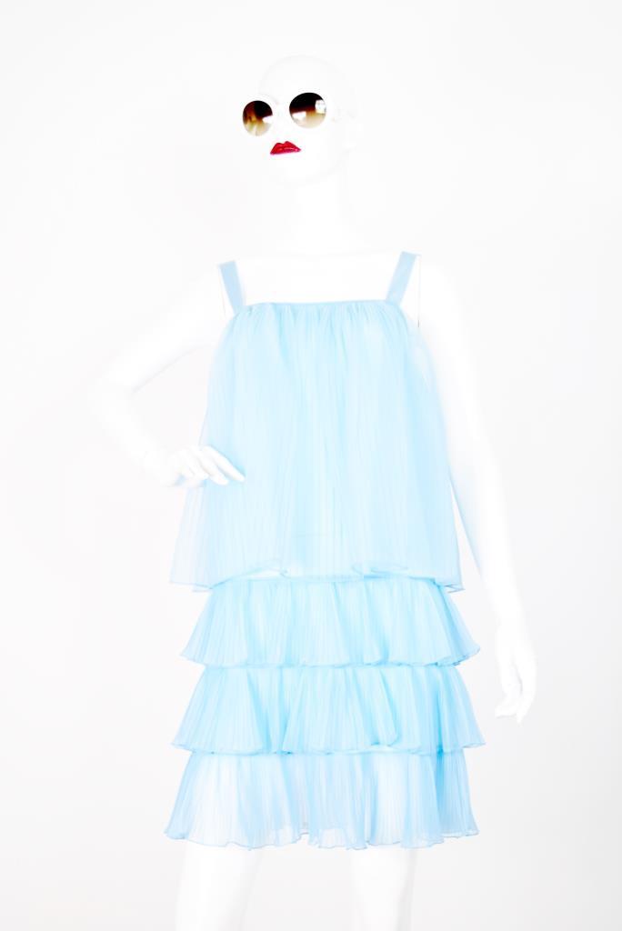 ADR001758 ライトブルーティアードドレス
