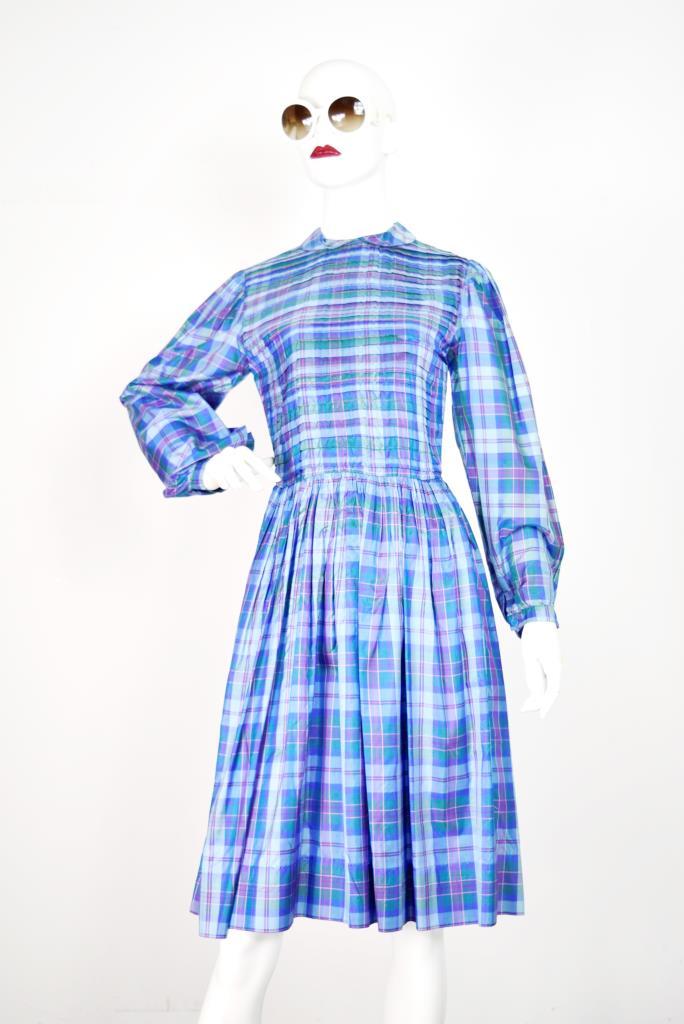 ADR001762 カラフルチェック柄ドレス