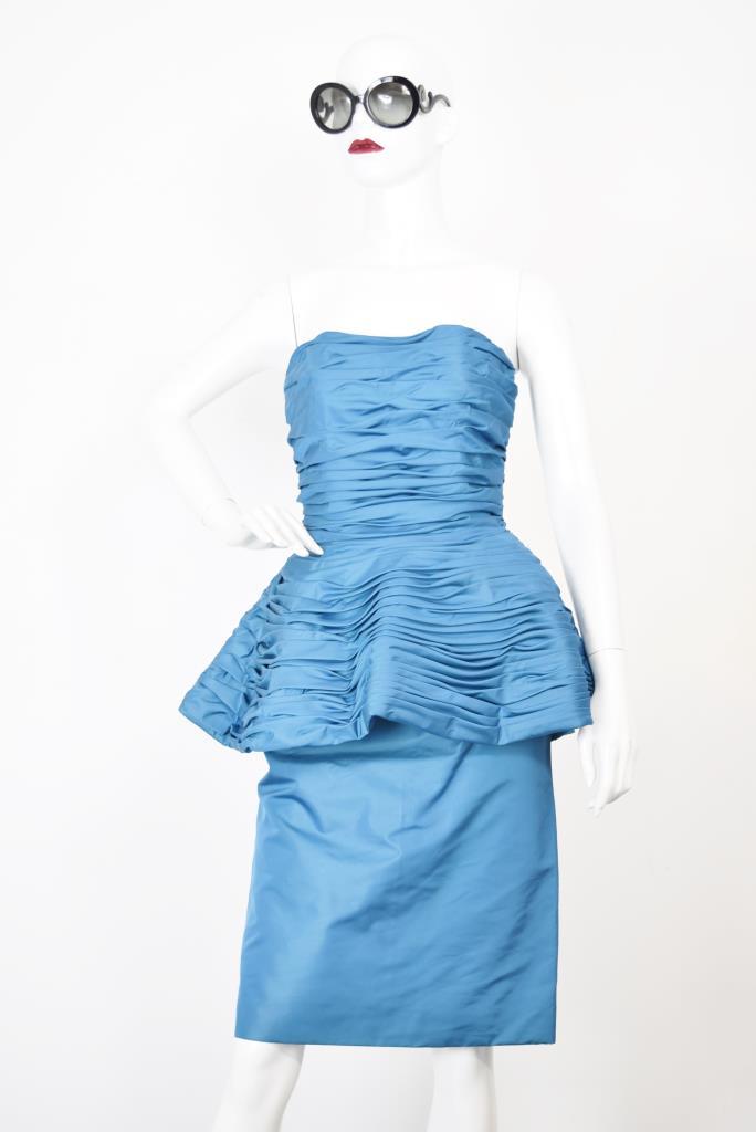 ADR001771 ブルーベアぺプラムドレス