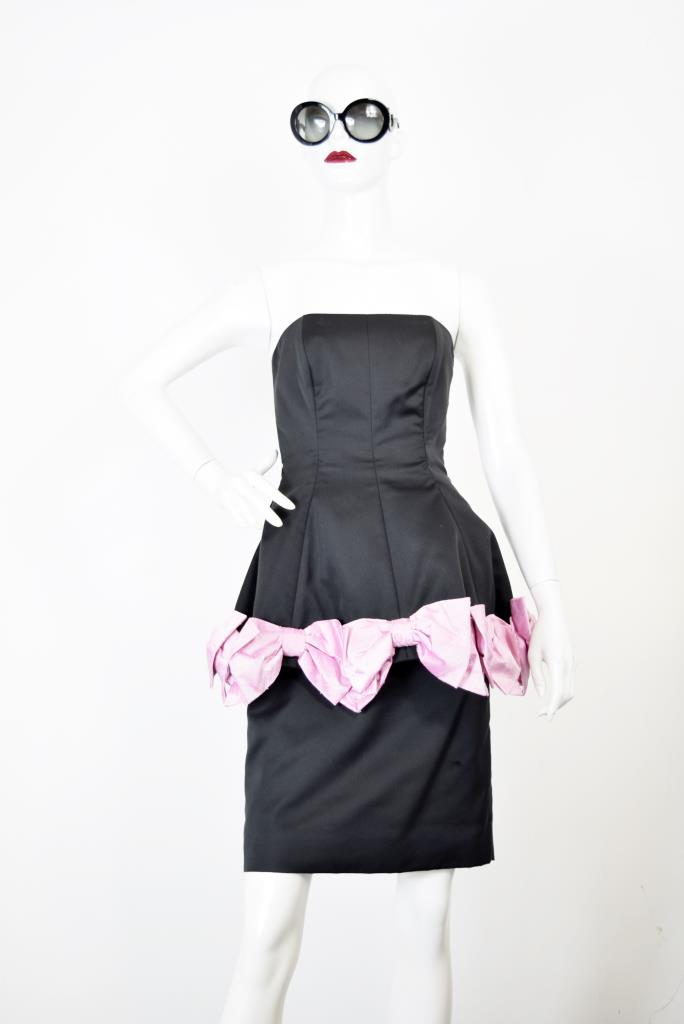 ADR001776 ブラックベアぺプラムドレス
