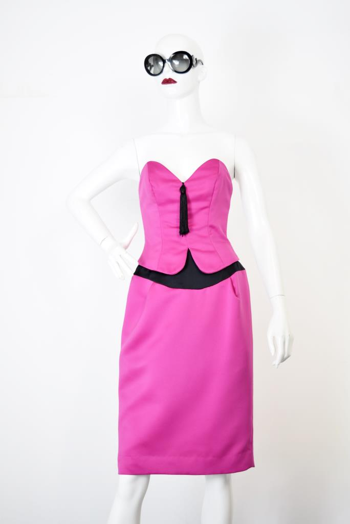ADR001779 ピンクベアタッセルドレス