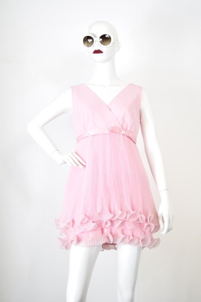 ADR001782 ピンク裾フリルドレス