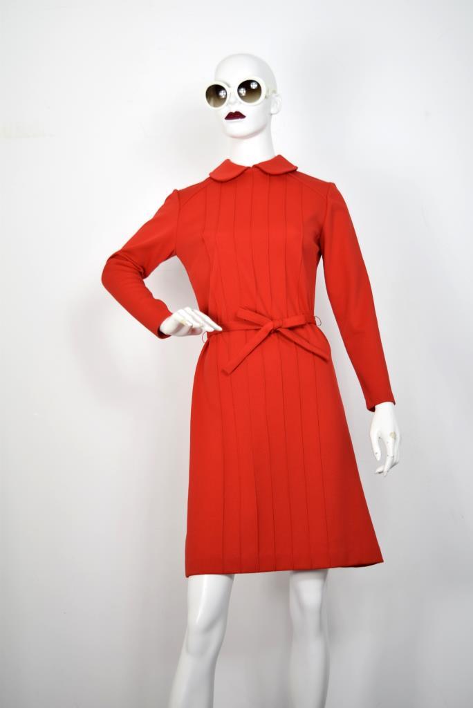 ADR001790 レッドネックカラードレス