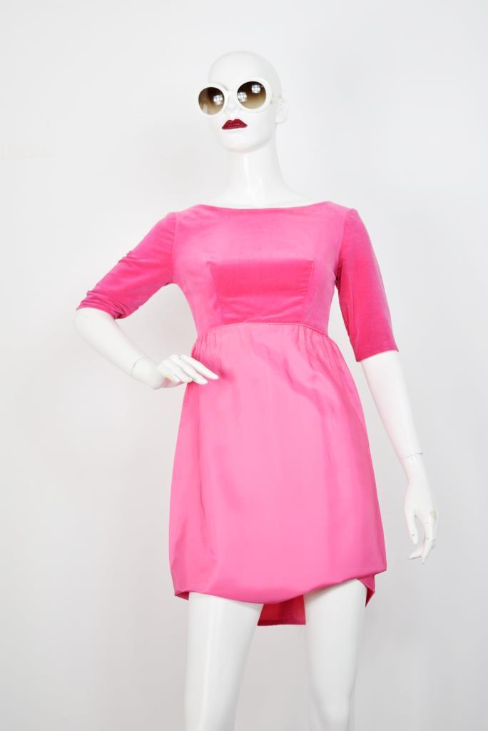 ADR001792 ピンクハーフスリーブドレス