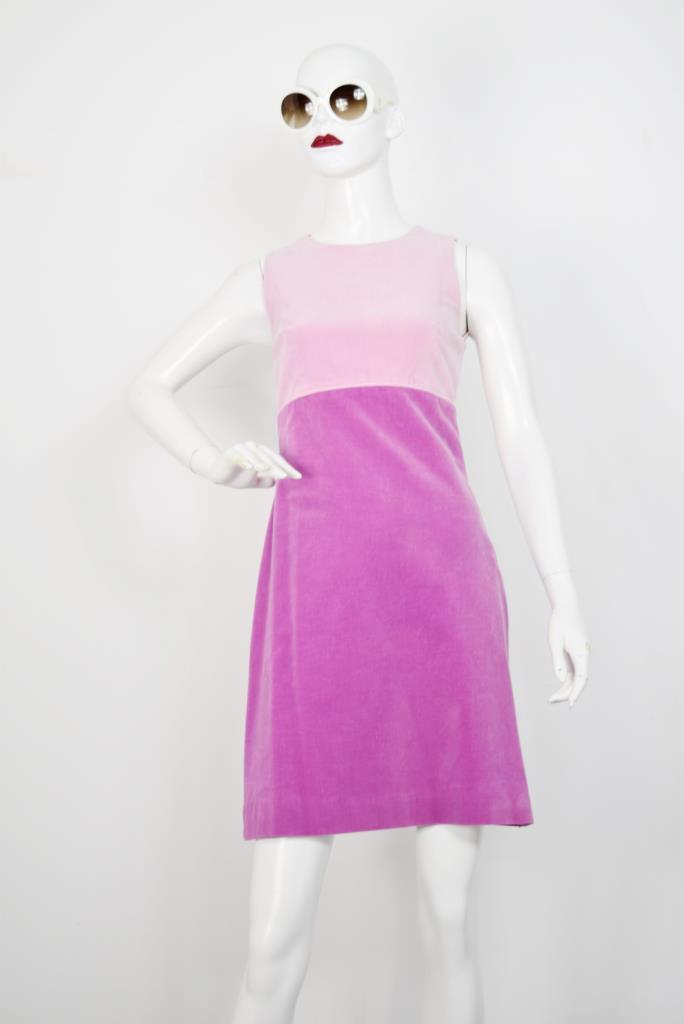 ADR001796 ピンクパープルバイカラードレス