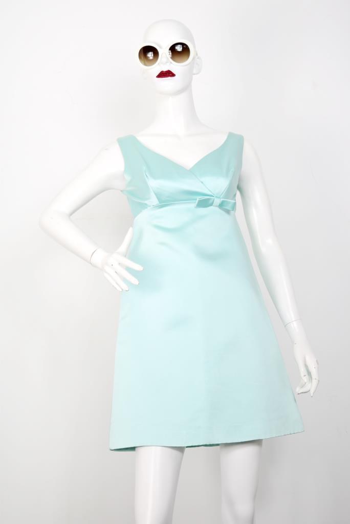 ADR001804 ブルーノースリーブドレス