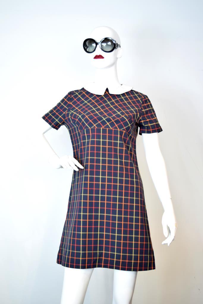 ADR001811 カラフルチェック柄ドレス