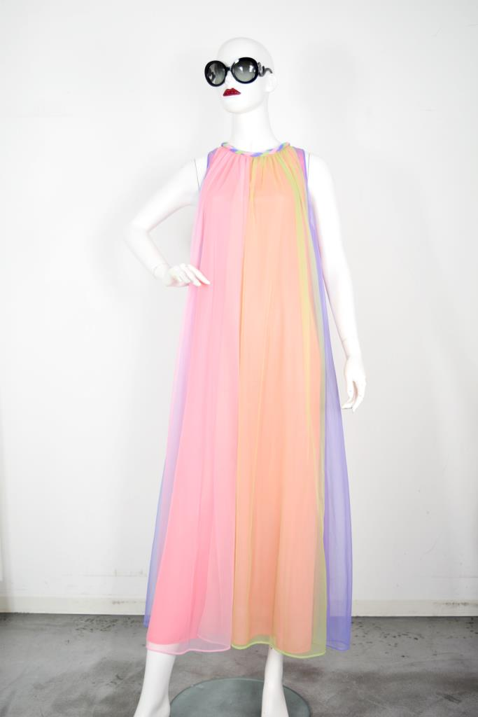 ADR001819 カラフルロングドレス