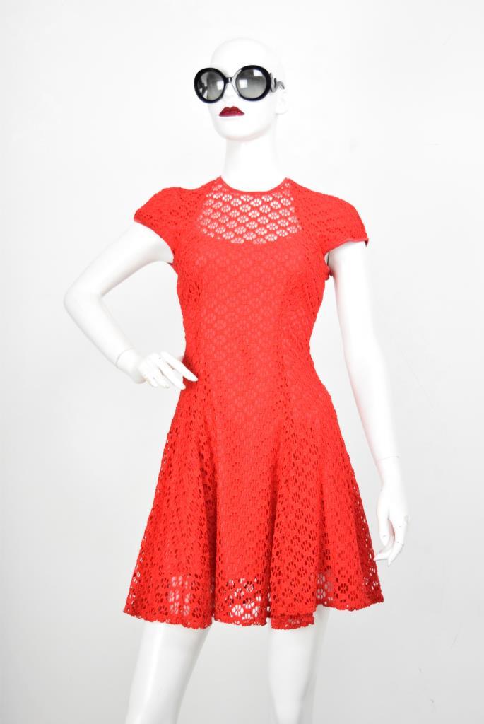 ADR001824 レッドレースドレス