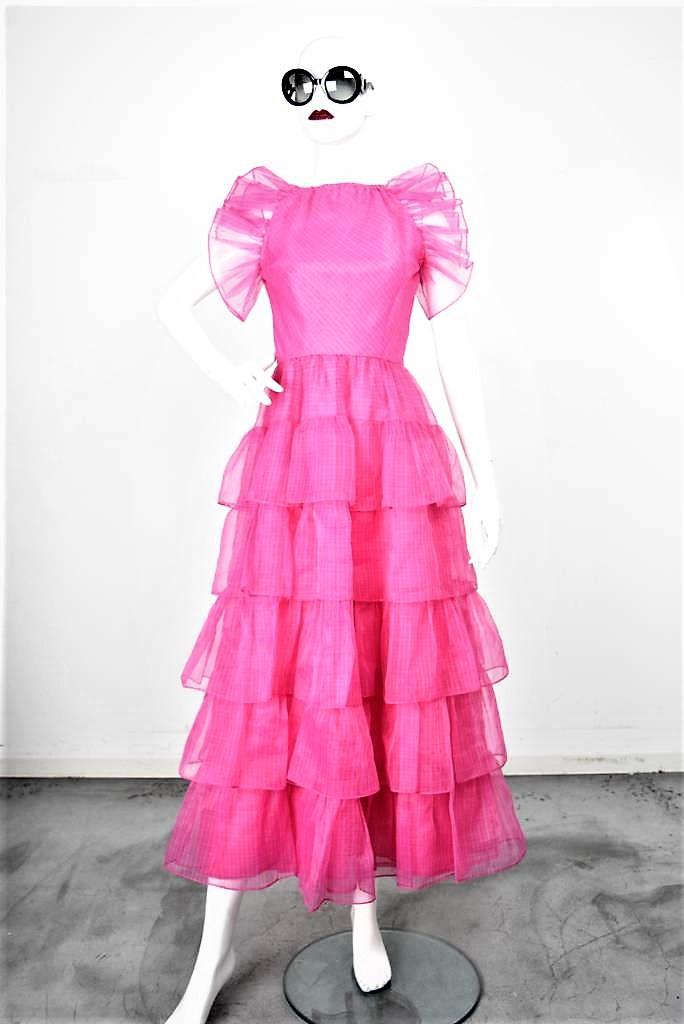 ADR001850 ピンクティアードドレス