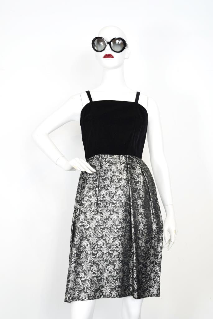 ADR001866 ブラック総柄ドレス
