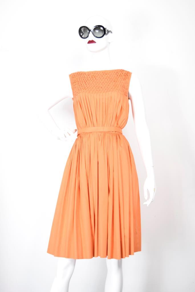ADR001881 オレンジギャザードレス